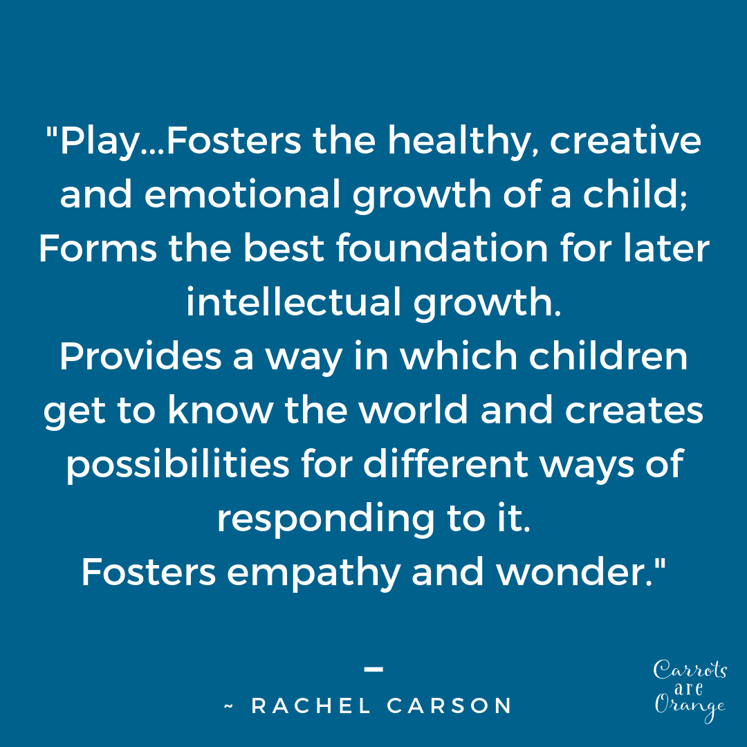 Rachel Carson Quote about Play