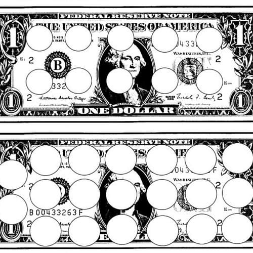 example of money game sheet