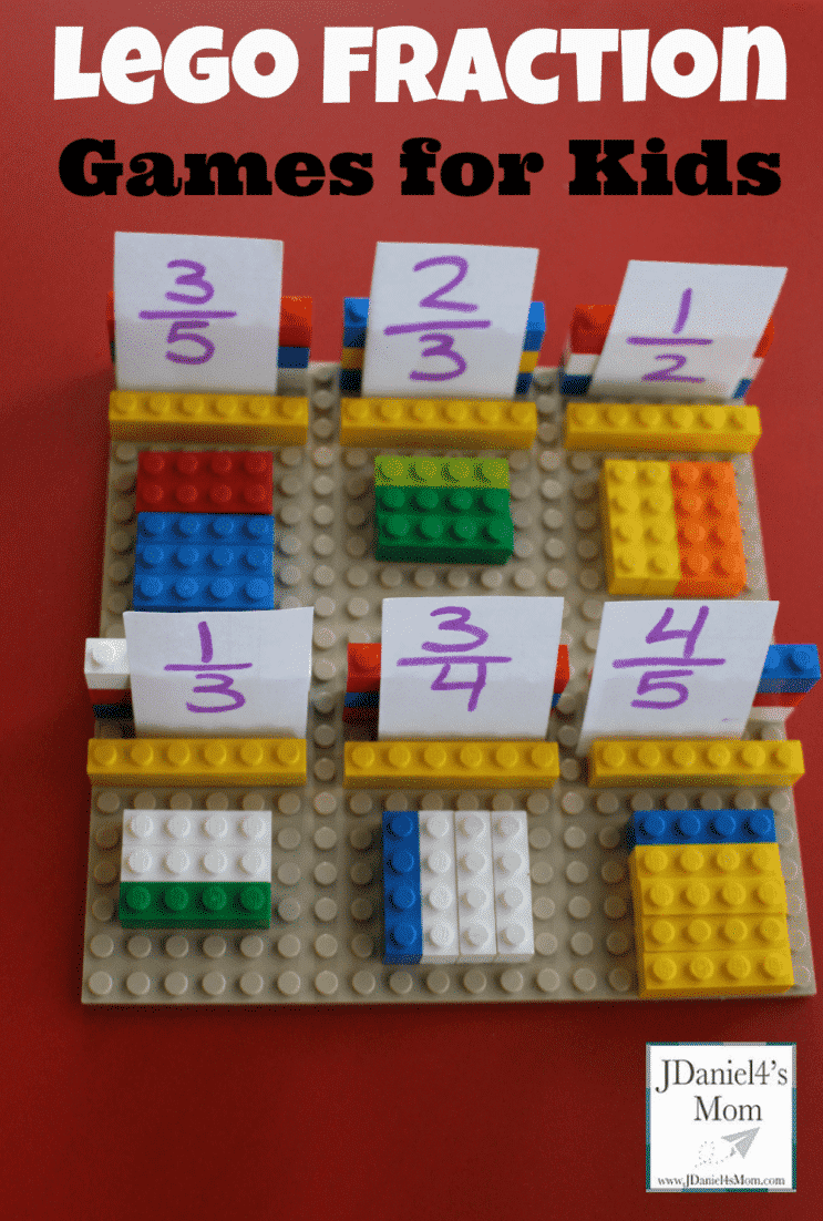 fractions made with legos