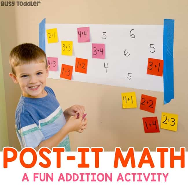 photo of post it math game