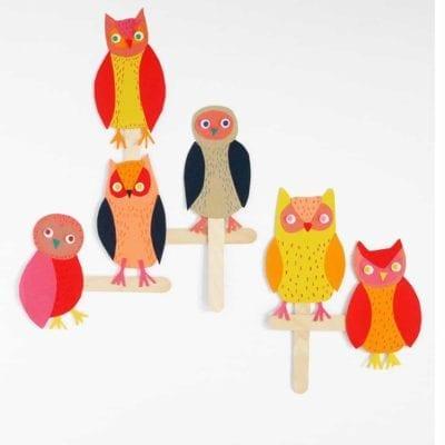 Owl Craft Stick & Paper Craft for Kids
