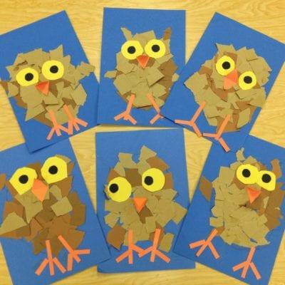 Owl Paper Crafts for Kids