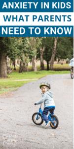 A child riding his bike