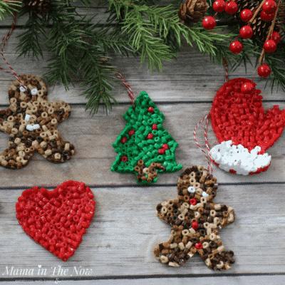 diy perler bead ornaments