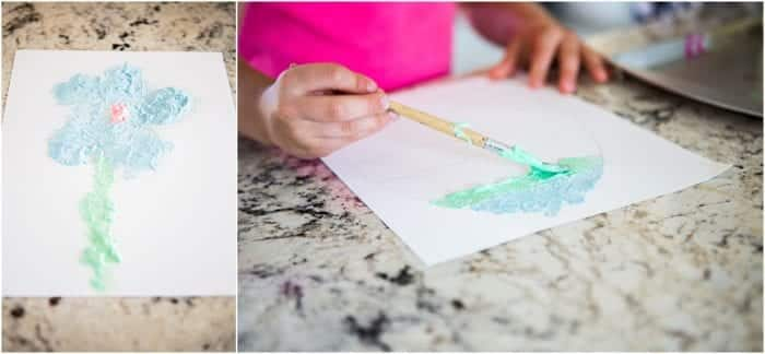 mother's day puffy paint craft