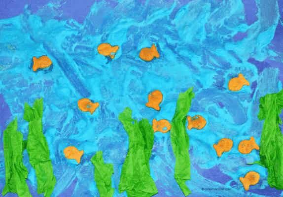 puffy paint ocean craft