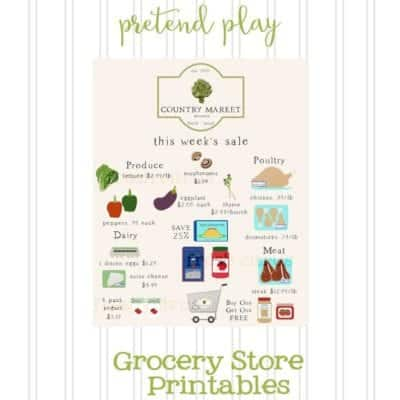 Grocery Store Printables for Kids