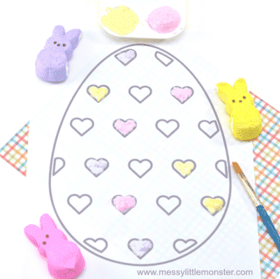photo of edible puffy paint easter craft