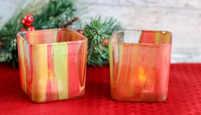Poured Paint Votive Candles – Perfect Gift from Kids