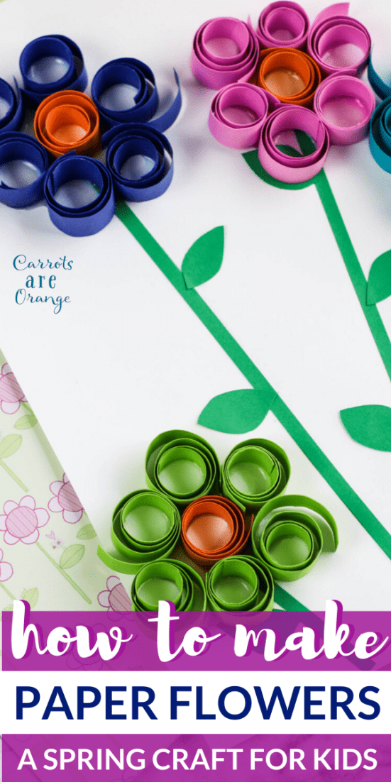 Curled Paper Flower Making