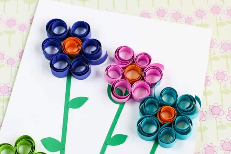 Curled Paper Flowers Craft
