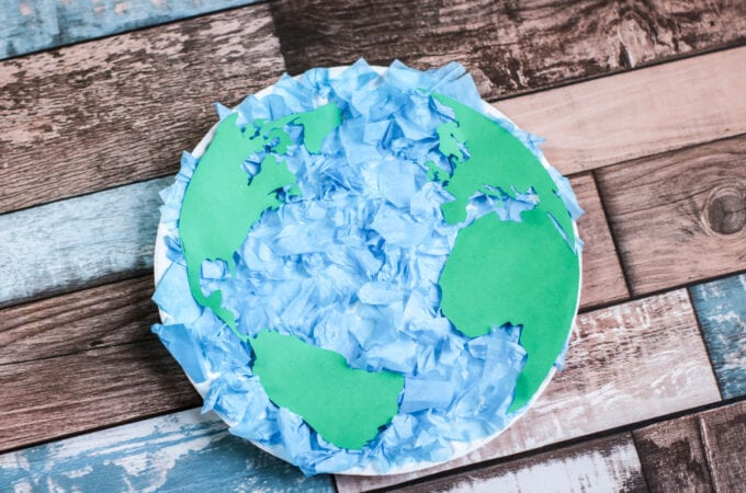 Earth Day Tissue Paper Plate scaled
