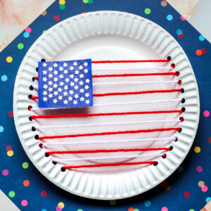 US Flag Yarn and Paper Plate Craft scaled