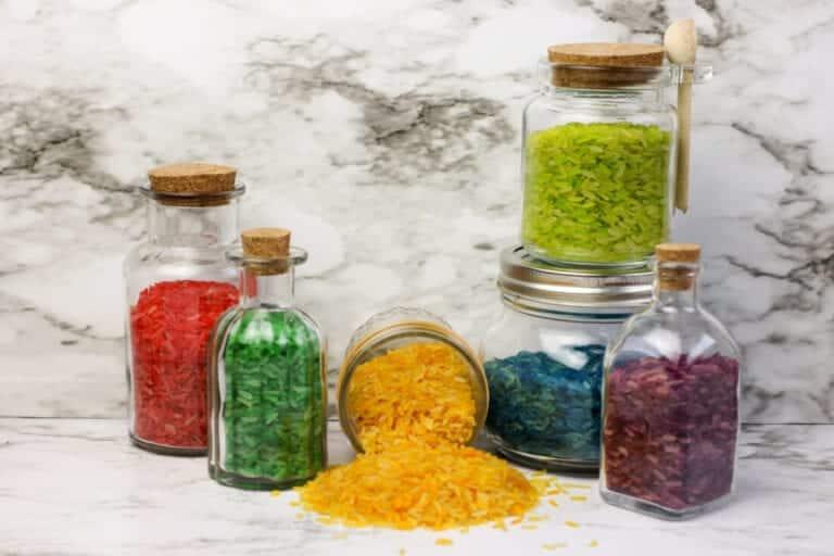 Colored Rice Sensory Bottle